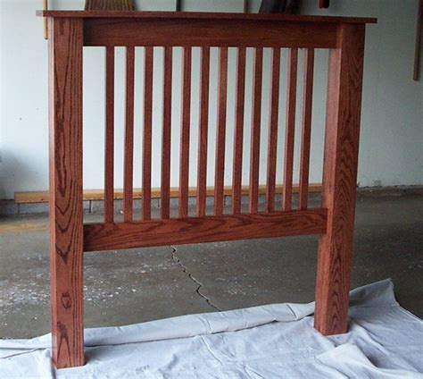 mission style headboards mission style oak bed headboard by uwmu lumberjocks