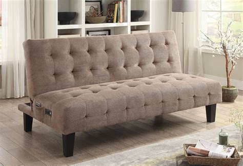 mattress and futon outlet taupe sofa bed w power outlet and usb futons living