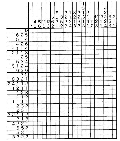 printable japanese puzzle japanese crossword