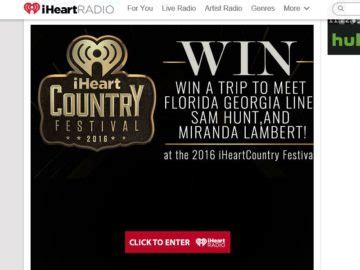 I Heart Radio Sweepstakes - iheartradio win a trip to the 2016 iheartradio country festival sweepstakes