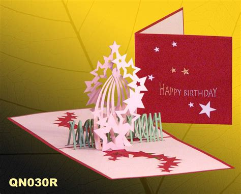 Handmade Pop Up Greeting Cards - birthday 2 pop up handmade greeting cards qn030