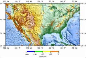 tectonic plates map united states earthquakes general information