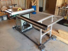 Table Saw Fence Upgrade by Table Saw Upgrade New Fence Rail With Steel And 80 20