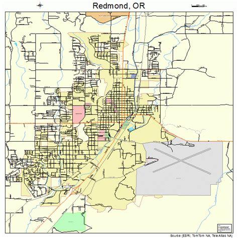 maps redmond redmond oregon map 4161200