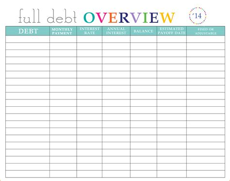Credit Card Inventory Template 12 credit card debt payoff spreadsheet excel spreadsheets