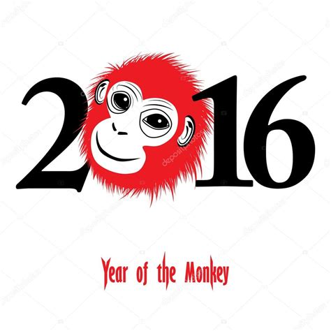 new year year of monkey craft new year 2016 monkey year stock vector