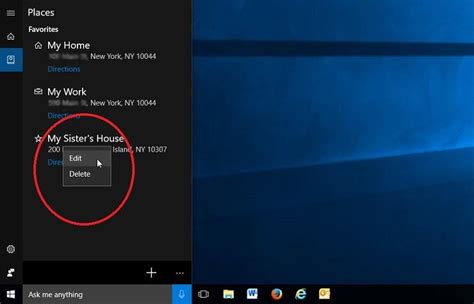 cortana find me santander in by sister how to share more or less personal data with cortana