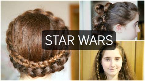 wars hair styles 3 peinados de quot star wars quot youtube