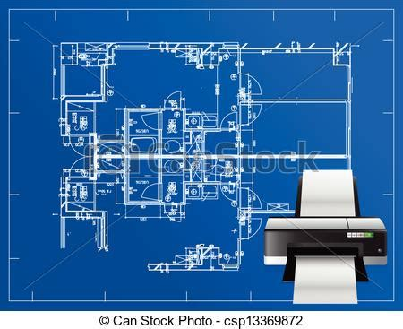 Toner Blueprint vectors illustration of printer blueprint illustration business design concept csp13369872