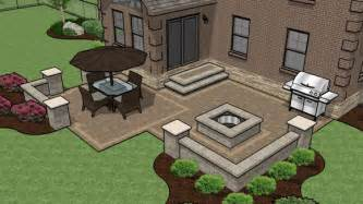 Patio Layout Design by Patio Designs Pavers Grass Landscaping Gardening Ideas