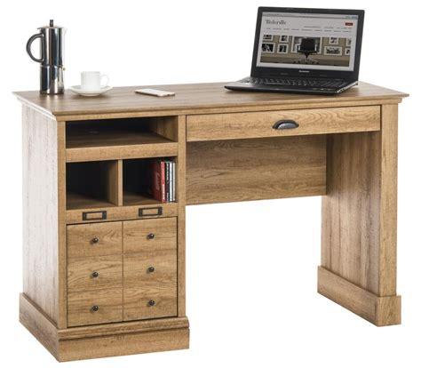 Computer Desk Oak Effect Scribed Oak Effect Home Office Computer Laptop Desk Freestanding Workstation Ebay