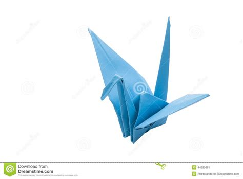Origami Blue Bird - origami blue bird paper stock photo image 44595681