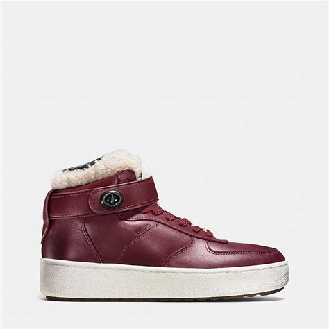 coach mens sneakers coach mens sneakers shearling turnlock c210 high top sneaker