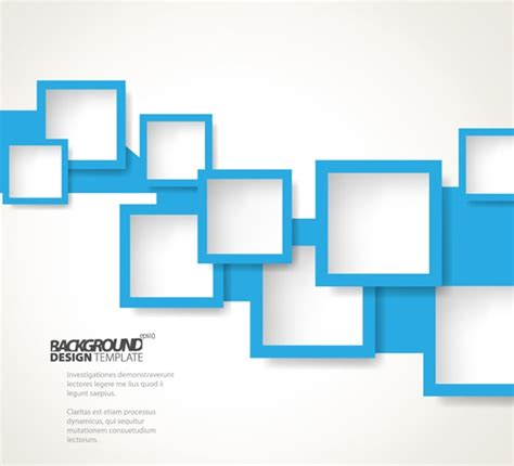free download layout design vector blue square background vector material my free