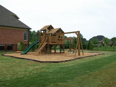 how to build a backyard playground backyard playground hand crafted wooden playsets swing