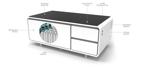 coffee table with built in refrigerator product of the week a hi tech coffee table with built in