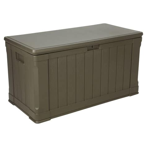 backyard storage box lifetime 116 gallon outdoor storage box the home depot canada