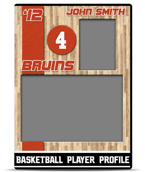 Sports Player Card Template basketball player profile template teamtemplates