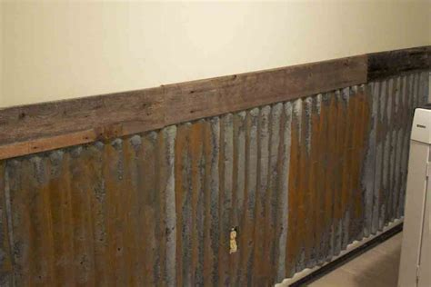 corrugated tin wainscoting the b farm farm laundry room wall
