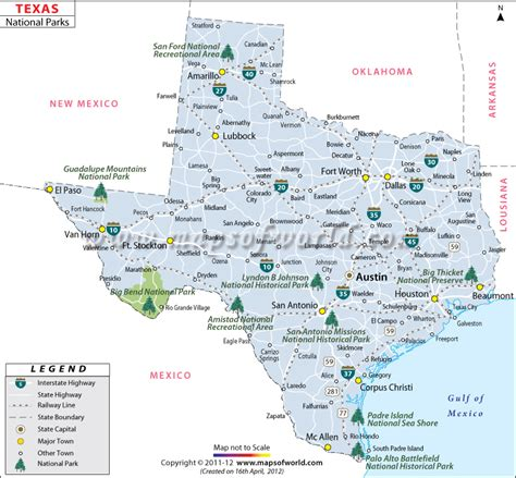texas state park maps buy texas national parks map