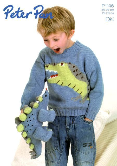 knitting pattern jumper with dinosaur cottontail crafts knitting pattern peter pan p1146