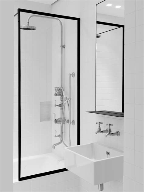 Over Bath Shower Screen less is more with minimalist bathroom design pivotech