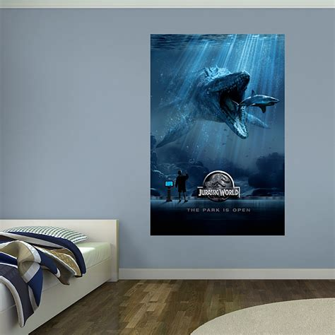 jurassic park bedroom jurassic world aquarium mural fathead peel stick wall