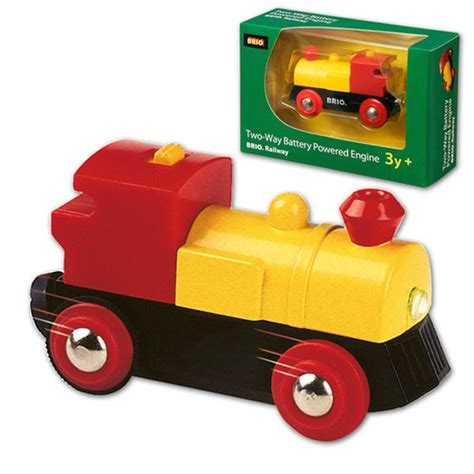 brio battery train engine brio wooden railway two way battery powered engine at