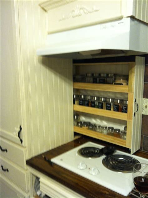 diy rolling spice rack my kitchen after diy remodel built in roll out spice rack