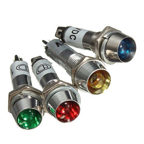 Indicator Lights by 8mm 12v Led Dashboard Warning Indicator Signal Light L