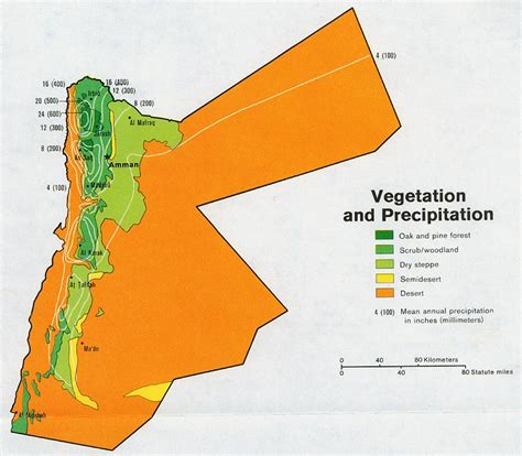 middle east vegetation map maps perry casta 241 eda map collection ut library