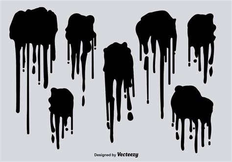 spray paint drips black spray paint drips vectors free vector