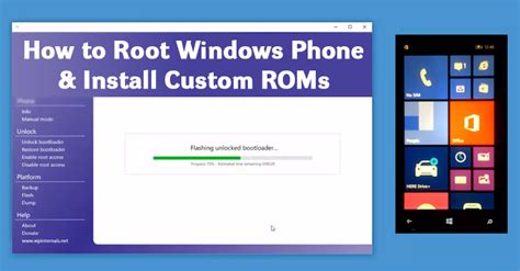 how to root windows phone and unlock the bootloader to