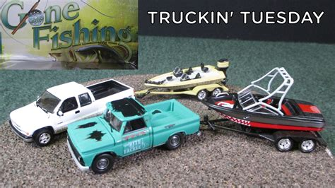 fishing boat and trailer truckin tuesday gone fishing 3 piece sets with boats and