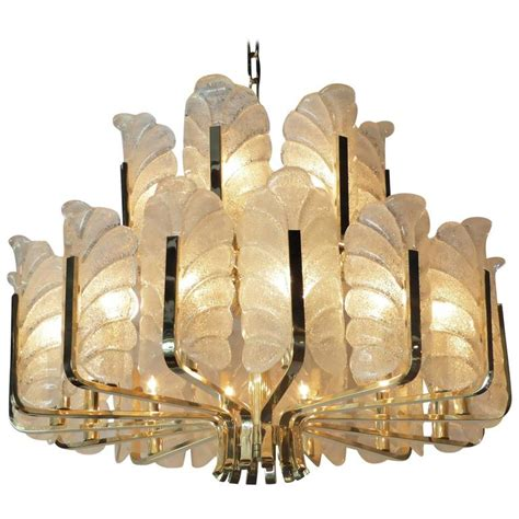 Large Carl Fagerlund Orrefors Acanthus Leaf Chandelier At Acanthus Leaf Chandelier