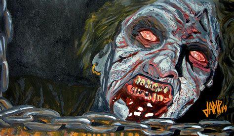 Buy Duvet Cover Online Evil Dead Painting By Jose Mendez