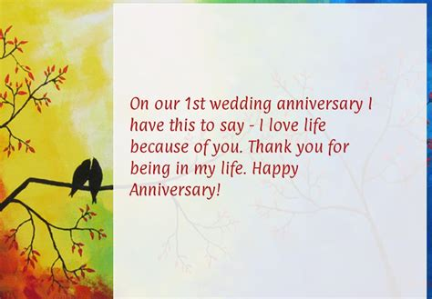 1st Wedding Anniversary Quotes For My by Wedding Anniversary Wishes For My Husband