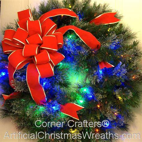 30 inch l e d estate christmas wreath cornercrafters