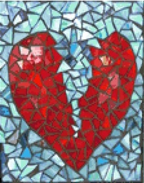 mosaic heart pattern free mosaic broken heart cross stitch pattern