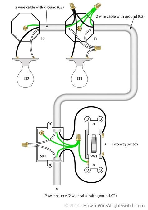 1 light switch 2 lights wiring diagram wiring diagram