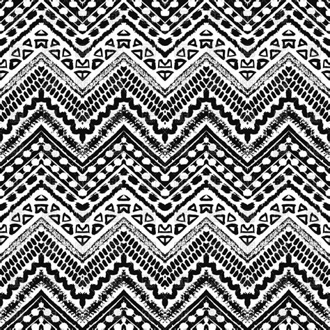 zig zag pattern painting hand drawn zig zag monochrome seamless pattern royalty