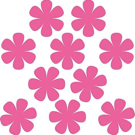 Pinke Blumen Aufkleber F Rs Auto by 10 Aufkleber 8cm Pink Blumen Bl 252 Mchen Deko Folie