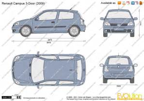Renault Clio Dimensions The Blueprints Vector Drawing Renault Clio Cus