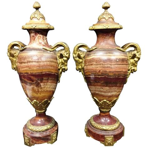 Marble Vases For Sale by Pair Of 19th Century Marble Vases For Sale At 1stdibs