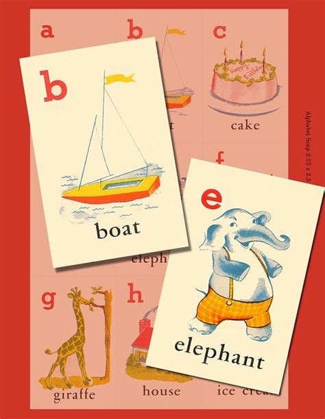 printable vintage alphabet cards 17 best images about vintage graphics on pinterest