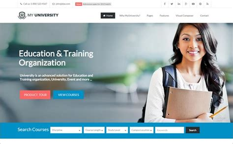 wordpress themes free university 10 best wordpress themes for schools and education wp