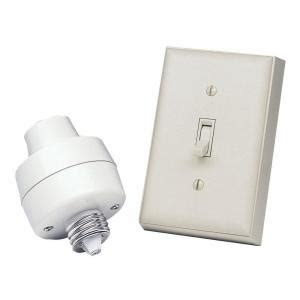 wireless light switch kit home depot heath zenith l socket and switch kit bl 6138 la the