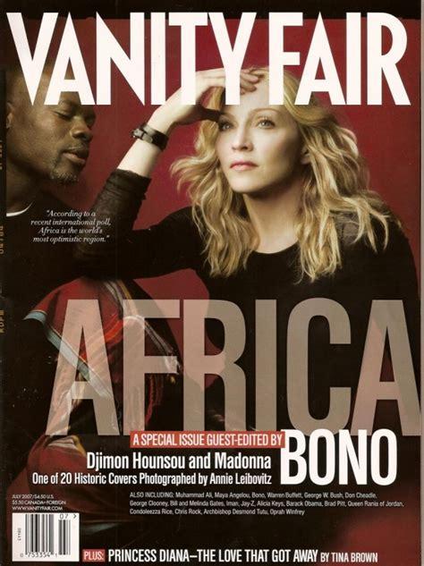 sulla vanit madonna e djimon hounsou sulla cover di vanity fair usa