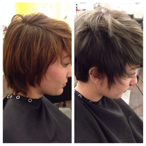 grey hair pics before and after before and after gray hair short hairstyle 2013