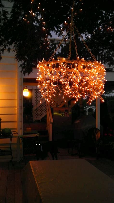 outdoor string light chandelier easy string lighting ideas you can use by tonight helios